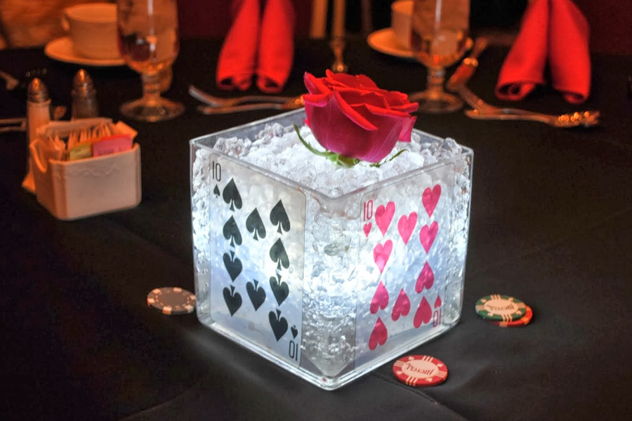Gambling themed centerpieces gambling gene